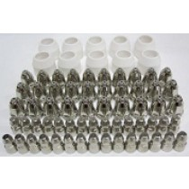 P80 CONSUMABLES 70 PIECE SET - 30 ELECTRODES 30 TIPS  10 CERAMIC CUPS